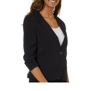 Guess one button touched sleeve black blazer Small